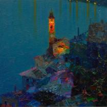 Pedro Roldán - Nocturno en Brienno. Lago Como