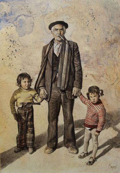Antonio Guzman Capel - Gitano con los nietos