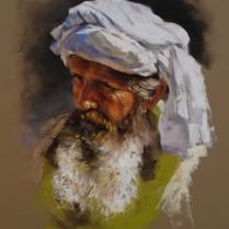 Cabeza viejo árabe