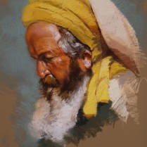 Turbante amarillo