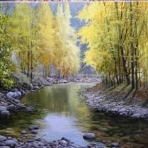 Miguel Peidro - El río Garona en Viella