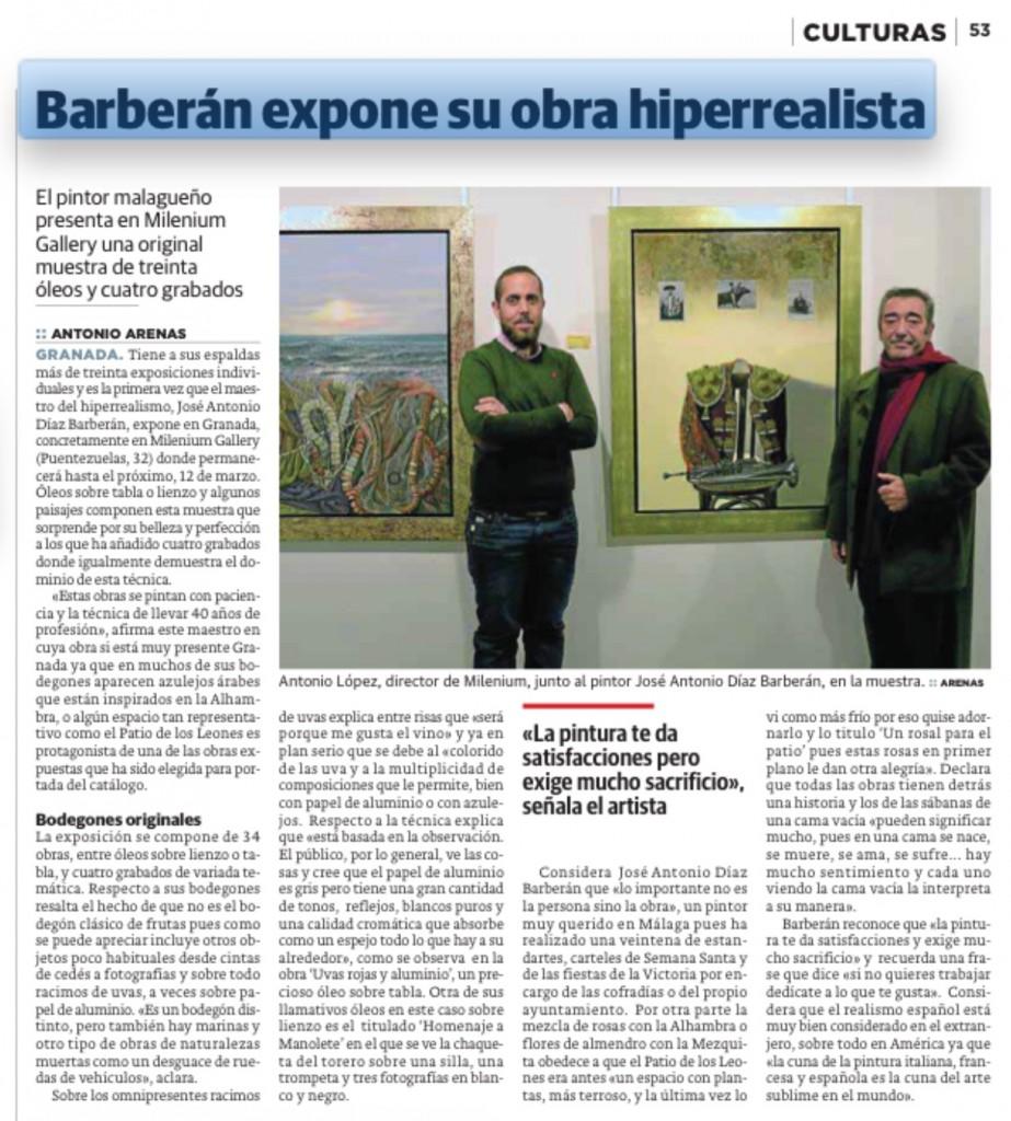 Barberán en Milenium Gallery