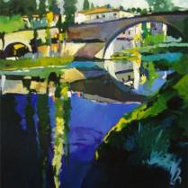 Josep Francés - Rio Tajo en Trillo, 90x50, 1800E