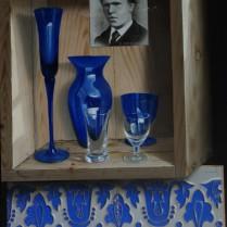 José Antonio Díaz Barberán - azul de van gogh 50x40