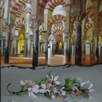 José Antonio Díaz Barberán - flores de almendro para la Mezquita 40x30