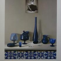 José Antonio Díaz Barberán - litografia azul  50x40