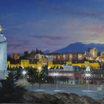 José Antonio Díaz Barberán - luces de Malaga 20x30