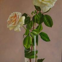 José Antonio Díaz Barberán - rosas sobre marmol 30x20