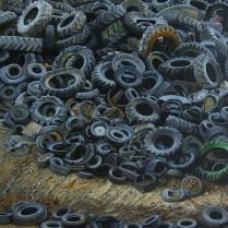 José Antonio Díaz Barberán - sociedad oleo lienzo 50x50