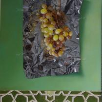 José Antonio Díaz Barberán - uvas verdes y azulejo 60x40