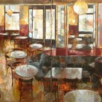 Noemí Martín - Café Central (Díptico)  _ 33 x 66'5 + 33 x 66'5 cm
