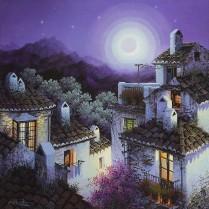 Luis Romero - Halos de luna creciente - 40x40 cm
