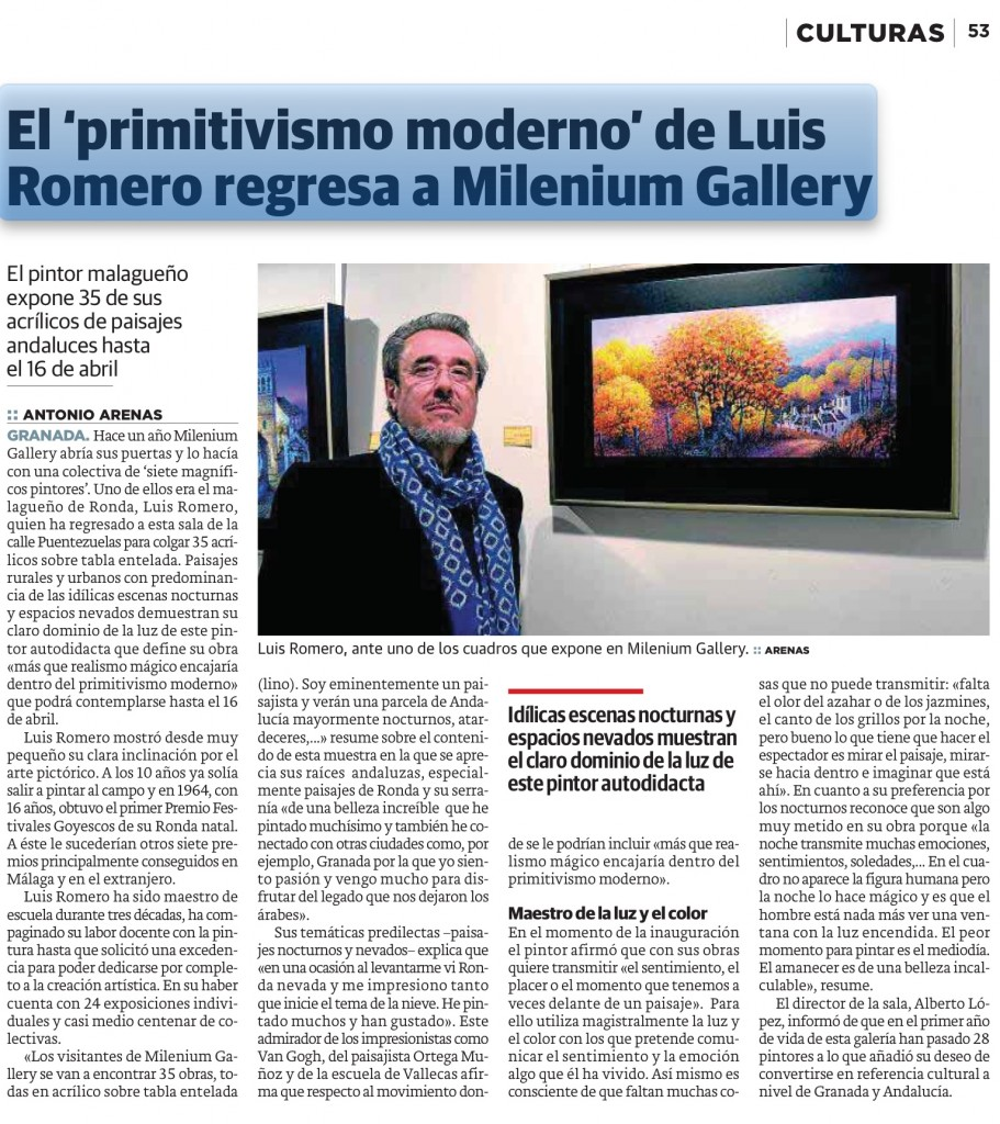 Luis Romero en Milenium Gallery