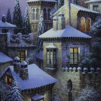 Luis Romero - Nieve en la medina - 70x40 cm