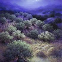 Luis Romero - Noche en la era - 85x60 cm
