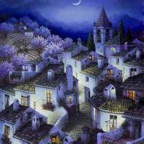 Luis Romero - Nocturno azul - 85x60 cm