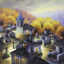 Luis Romero - Valle del Genal - 60 x 60 cm