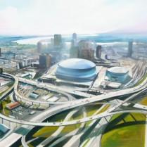 Albert Sesma - Atlanta 100 x 73. Oleo lienzo.