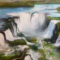 Albert Sesma - Cataratas de Iguazu 100x81
