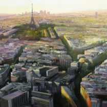 Albert Sesma - Paris Panoramica I. 130 x 89cm. oleo tabla.